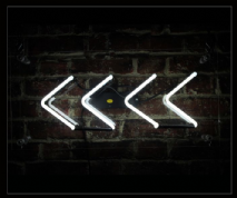 Chevrons Neon Sign
